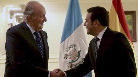 Rey Juan Carlos y Jimmy Morales afianzan la relación España-Guatemala