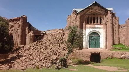 Consternación por el desmoronamiento del templo Tintiri de Azángaro