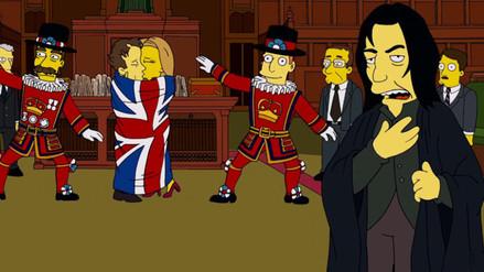 Los Simpson rinden homenaje a David Bowie y Alan Rickman