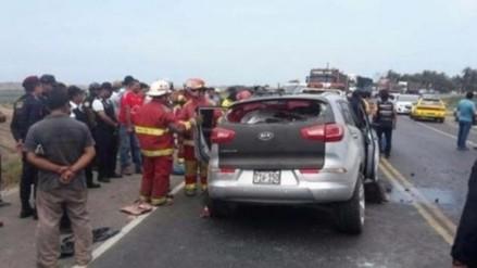 Cañete: 5 heridos en la Panamericana Sur tras despiste de vehículo