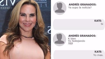 Kate del Castillo: revelan mensaje donde celebra fuga de El Chapo