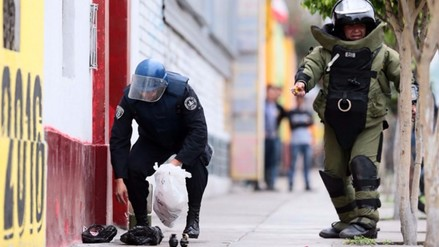 La Perla: dejan cartuchos de dinamita en plena calle