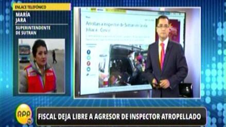 Fiscal dejó en libertad a chofer que atropelló a inspector de Sutran