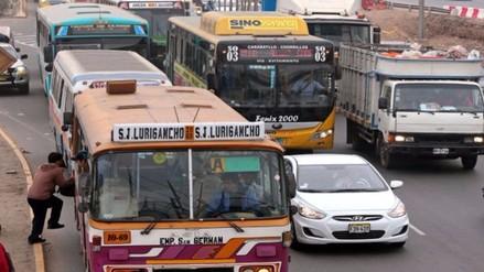 Transportistas del Callao acatarán paro este jueves contra corredor JP