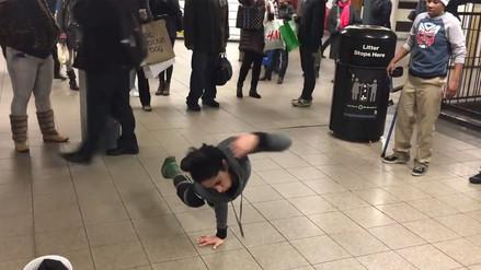 Youtube: breakdancer con una sola pierna sorprendió a neoyorquinos