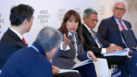 Magali Silva destaca importancia del TPP para el Perú en Davos