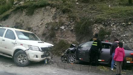 La Oroya: un herido grave deja un choque frontal en la Carretera Central