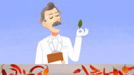 Doodle celebra a Wilbur Scoville, el calibrador del picor de los ajíes
