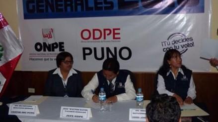 Instalaron oficinas de la ODPE en Puno y San Román