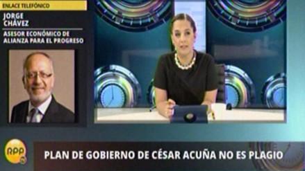 Asesor económico de Acuña se atribuyó ideas usadas en plan de gobierno de APP