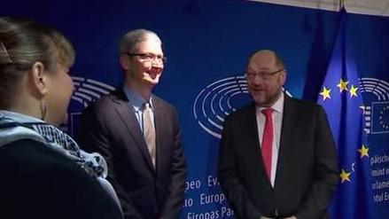 Tim Cook visita Bruselas para tratar sobre ventajas fiscales a Apple