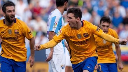 Barcelona ganó 2-1 al Málaga gracias a los tantos de Munir y Lionel Messi