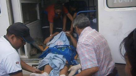 Yurimaguas: choque de moto con camión deja un herido grave