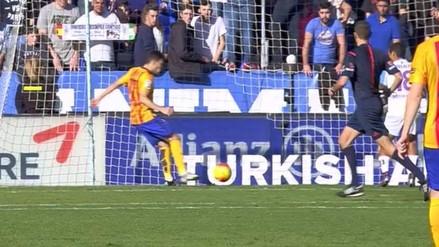 Barcelona vs. Málaga: Munir El Haddadi anotó apenas al minuto de juego