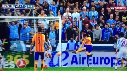 Barcelona vs. Málaga: Messi sorprendió a Kameni con fantástica 'tijera'
