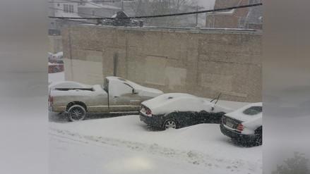 EE.UU: Peruanos sufren tormenta de nieve