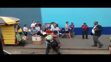 La victoria: policía captura a delincuente (vídeo)