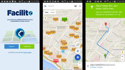 Facilito APP te permite ubicar los grifos más baratos con tu smartphone