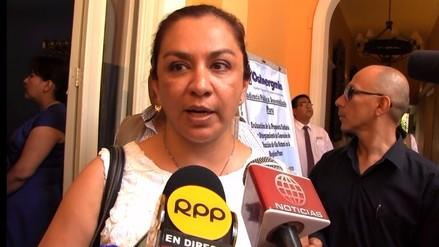 Marisol Espinoza prefirió no hablar sobre supuesto plagio de César Acuña