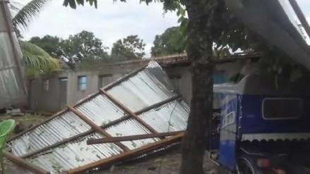 Vraem: fuertes vientos dejan sin techo a más de 50 casas