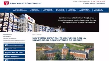 César Acuña: UCV y Universidad Complutense firmaron convenio en 2014