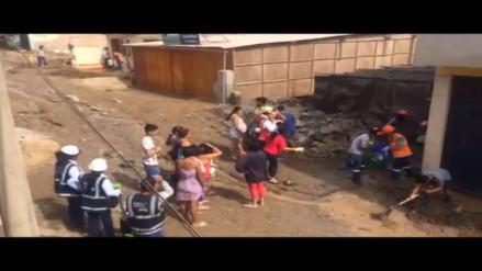 VES: casas de vecinos inundadas por obra de gas natural