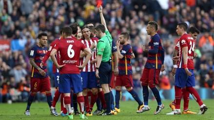 Barcelona vs. Atlético Madrid: Messi sufrió terrible planchazo de Filipe Luis