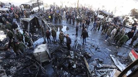 Siria: 58 muertos deja explosiones en zona chií al sureste de Damasco