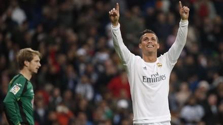 Real Madrid aplastó 6-0 al Espanyol con 'hat trick' de Cristiano Ronaldo