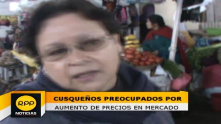 Precios de alimentos se incrementan en mercados cusqueños