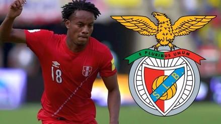 Facebook: André Carrillo fichó como nuevo jugador del Benfica por 5 temporadas