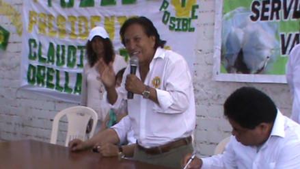 Alejandro Toledo realizó su campaña en la ciudad de Pisco