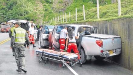 Despiste y vuelco de camioneta dejó un muerto y dos heridos en Cutervo