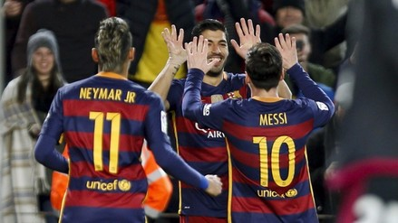 Barcelona vs. Valencia: Messi y Suárez sellaron el 7-0 por la Copa del Rey