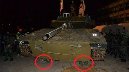 Hamás mostró con orgullo un tanque que resultó ser un carro