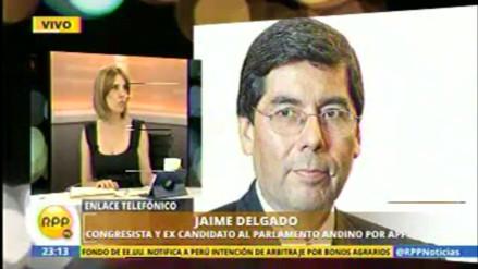 Jaime Delgado declinó postular al Parlamento Andino con APP