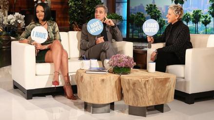 Rihanna y George Clooney jugaron