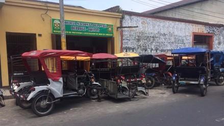 Iquitos: autoridades de la Policía colocan mototaxis en vía pública