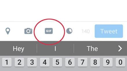Twitter alista un botón especial para subir imágenes GIF desde su app