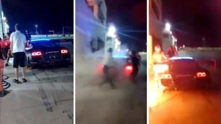 Facebook: auto de Nicolás Fuchs se incendió en prácticas de 'Las 6 Horas Peruanas'