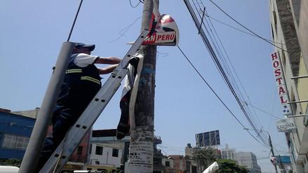 Municipio retira propaganda política de zonas restringidas de Chiclayo