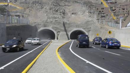 SJL: amplían horario de acceso a túneles Santa Rosa y San Martín