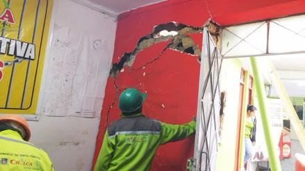 Huancayo: pared de municipio de Chilca colapsó tras lluvias