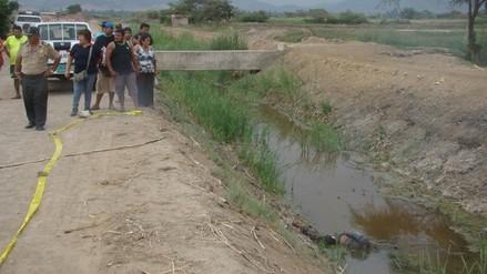 Hallan cadáver de mototaxista en dren San Nicolás de Zaña