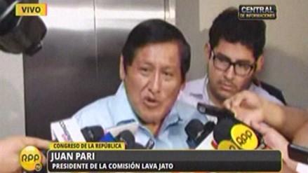Comisión Lava Jato: Descartamos que haya intencionalidad política en investigación