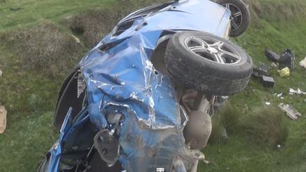 Accidente deja dos muertos y dos heridos en la vía La Oroya - Junín