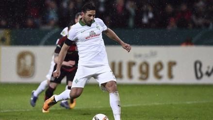 Claudio Pizarro: Werder Bremen ganó 3-1 al Bayer Leverkusen en la DFB Pokal