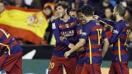 Barcelona clasificó a la final de la Copa del Rey tras empatar 1-1 con Valencia