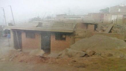 Chosica: desmonte de piedras afecta a familia
