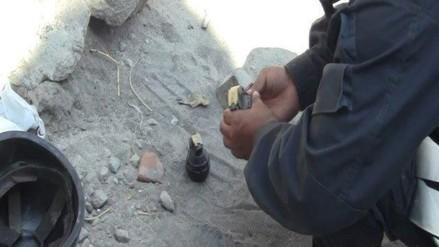 Vecinos hallan granada en la ciudad de Huamanga